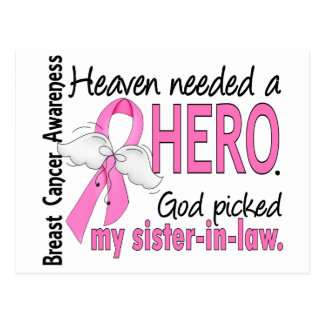 Heaven Needed A Hero Sister-In-Law Breast Cancer Postcard