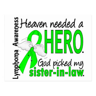 Heaven Needed a Hero Sister-In-Law Lymphoma Postcard