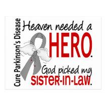 Heaven Needed a Hero Sister-In-Law Parkinson's Postcard