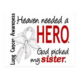Heaven Needed a Hero Sister Lung Cancer Postcard