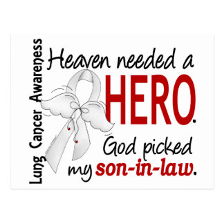 Heaven Needed a Hero Son-In-Law Lung Cancer Postcard