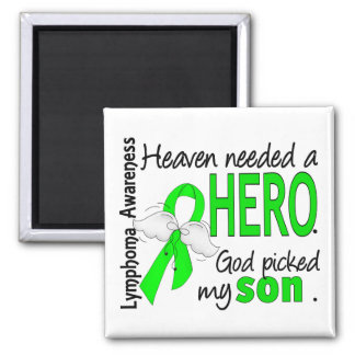 Heaven Needed a Hero Son Lymphoma 2 Inch Square Magnet