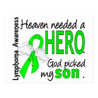Heaven Needed a Hero Son Lymphoma Postcard