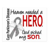 Heaven Needed a Hero Son Parkinson's Postcard