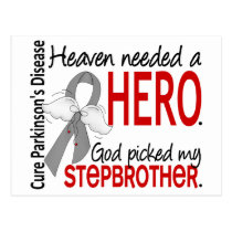 Heaven Needed a Hero Stepbrother Parkinson's Postcard