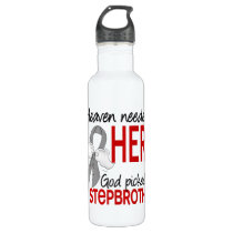 Heaven Needed a Hero Stepbrother Parkinson's Water Bottle