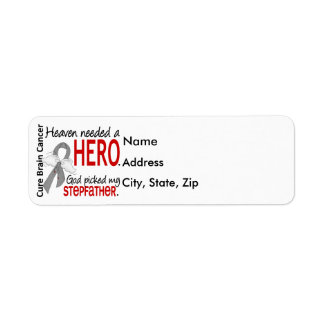 Heaven Needed a Hero Stepfather Return Address Labels
