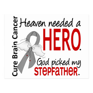 Heaven Needed a Hero Stepfather Postcard