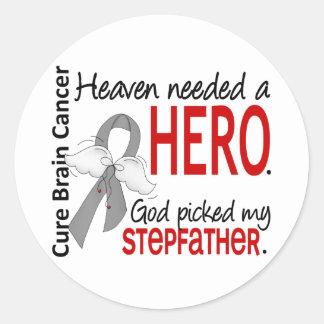 Heaven Needed a Hero Stepfather Round Sticker