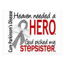 Heaven Needed a Hero Stepsister Parkinson's Postcard