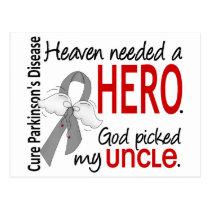 Heaven Needed a Hero Uncle Parkinson's Postcard