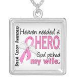 Heaven Needed A Hero Wife Breast Cancer Custom Jewelry