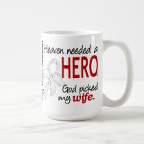 Heaven Needed a Hero Wife Lung Cancer Coffee Mug