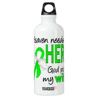 Heaven Needed a Hero Wife Lymphoma Aluminum Water Bottle