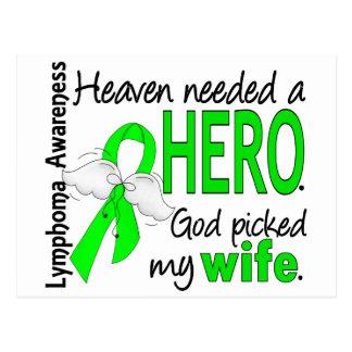 Heaven Needed a Hero Wife Lymphoma Postcard