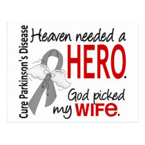 Heaven Needed a Hero Wife Parkinson's Postcard