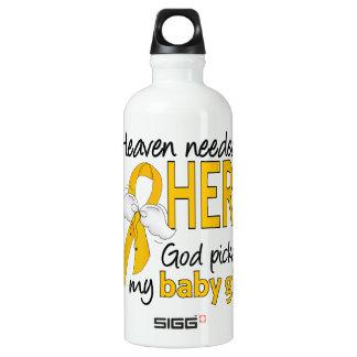 Heaven Needed Hero Baby Girl Childhood Cancer SIGG Traveler 0.6L Water Bottle