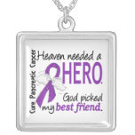 Heaven Needed Hero Best Friend Pancreatic Cancer Custom Necklace