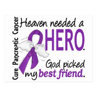 Heaven Needed Hero Best Friend Pancreatic Cancer Postcard