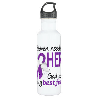 Heaven Needed Hero Best Friend Pancreatic Cancer Stainless Steel Water Bottle