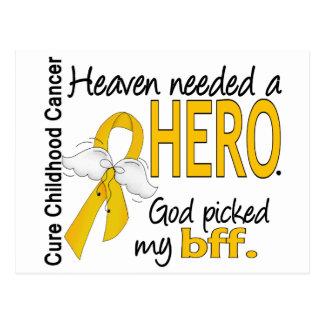 Heaven Needed Hero BFF Childhood Cancer Postcard