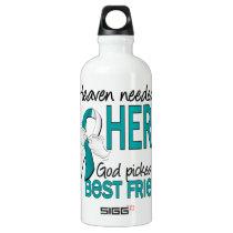 Heaven Needed Hero Cervical Cancer Best Friend Water Bottle