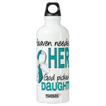 Heaven Needed Hero Cervical Cancer Daughter Water Bottle
