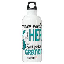 Heaven Needed Hero Cervical Cancer Grandma Aluminum Water Bottle