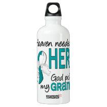 Heaven Needed Hero Cervical Cancer Granny Water Bottle