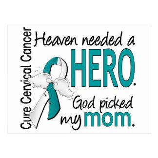Heaven Needed Hero Cervical Cancer Mom Postcard