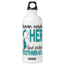 Heaven Needed Hero Cervical Cancer Mother-In-Law Aluminum Water Bottle