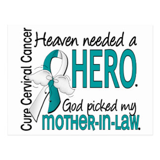 Heaven Needed Hero Cervical Cancer Mother-In-Law Postcard
