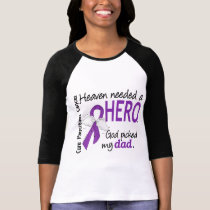 Heaven Needed Hero Dad Pancreatic Cancer T-Shirt