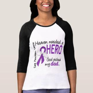 Heaven Needed Hero Dad Pancreatic Cancer T-Shirt