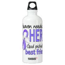 Heaven Needed Hero Esophageal Cancer Best Friend Aluminum Water Bottle
