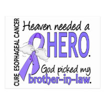 Heaven Needed Hero Esophageal Cancer Brother-In-La Postcard