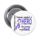 Heaven Needed Hero Esophageal Cancer Dad 2 Inch Round Button