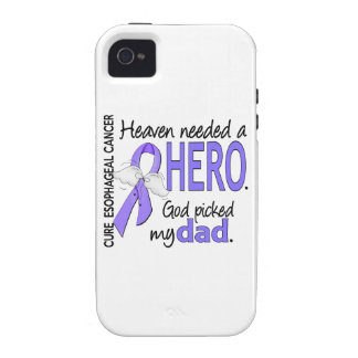 Heaven Needed Hero Esophageal Cancer Dad iPhone 4/4S Cases