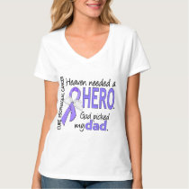 Heaven Needed Hero Esophageal Cancer Dad T-Shirt