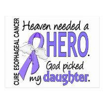 Heaven Needed Hero Esophageal Cancer Daughter Postcard