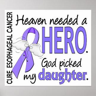 Heaven Needed Hero Esophageal Cancer Daughter Poster