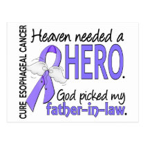 Heaven Needed Hero Esophageal Cancer Father-In-Law Postcard