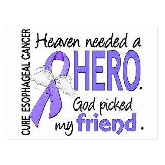 Heaven Needed Hero Esophageal Cancer Friend Postcard