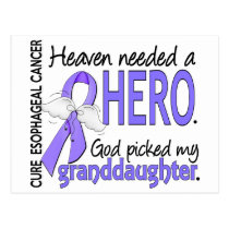 Heaven Needed Hero Esophageal Cancer Granddaughter Postcard