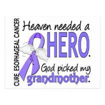 Heaven Needed Hero Esophageal Cancer Grandmother Postcard