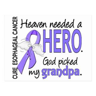 Heaven Needed Hero Esophageal Cancer Grandpa Postcard