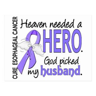 Heaven Needed Hero Esophageal Cancer Husband Postcard