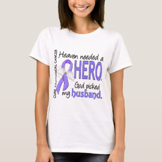 Heaven Needed Hero Esophageal Cancer Husband T-Shirt