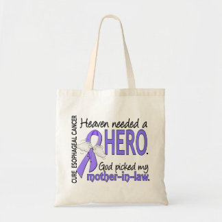 Heaven Needed Hero Esophageal Cancer Mother-In-Law Tote Bag