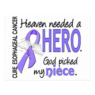 Heaven Needed Hero Esophageal Cancer Niece Postcard